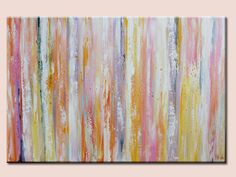 Modern Abstract wall deco Artwork green pink by artbyoak1 on Etsy