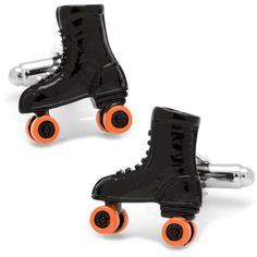 Cufflinks Inc Silvertone Roller Skate Cuff Links, Men's