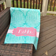 Beach Towel - Style #52096 Eleanor Print