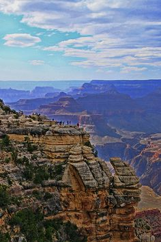 Grand Canyon - Mather Point Overlook / Photo artwork by Allen Beatty