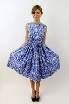 Love this delft blue dress.