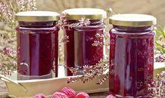 Dżem porzeczkowo - malinowy. Słodko - kwaśny dżem z porzeczek białych i czarnych oraz malin. #recipe Dr. Oetker Polska Peach Jam, Mason Jars, Mason Jar, Glass Jars, Jars