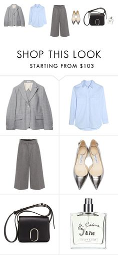 """""""Untitled #3385"""" by memoiree ❤ liked on Polyvore featuring Gant Rugger, Equipment, Alexander McQueen, Jimmy Choo, 3.1 Phillip Lim and Bella Freud"""