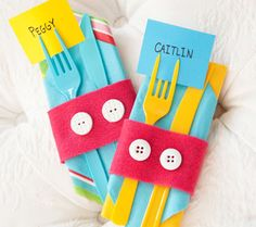 Mickey Napkin Wraps. Dress up your table with these festive napkin wraps inspired by Mickey's iconic two button shorts.