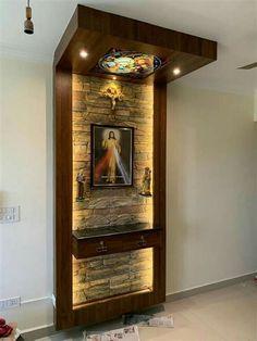Living Room Partition Design, Pooja Room Door Design, Room Partition Designs, Home Room Design, Home Interior Design, House Design, Washroom Design, Web Design, Home Altar Catholic