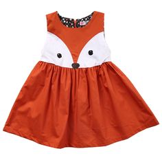 Cartoon Cute Animals Party Tutu Short Casual New Baby Girls Kids Clothing Dresses Princess Sleeveless Girl Dress #Affiliate