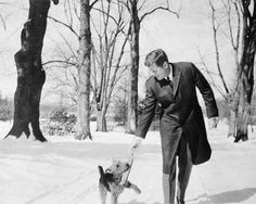 John F. Kennedy and dog