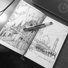 By @leekeez  - Jame Asr Mosque - Brunei  #janeasrhassanil#brunei  #bruneisketch #architecturesketch #arch_sketch #dailysketch #klsketchnation#archi_works #arqsketch#ar_sketch #fineart #architecture #sketchbook#urbansketch #arqsketch#illustration #architecturesketch  #arquitetapage#arts_help #artFido #archisketcher #sketch_daily  #artists_magazine #artgallery #worldofpencils #artwork #instagood  #ar_sketch #archfolios