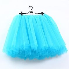 Skirts Womens 7 Layers Midi Tulle Skirt Fashion Tutu Skirts Women Ballmodkily