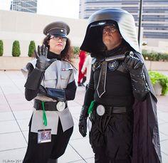 Dark Helmet and Colonel Sandurz! Don't see a lot of Spaceballs cosplay!! It's pretty impressive though.