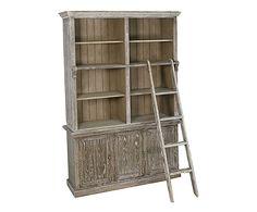 Libreria con scala in quercia Luisa - 150x220x43 cm
