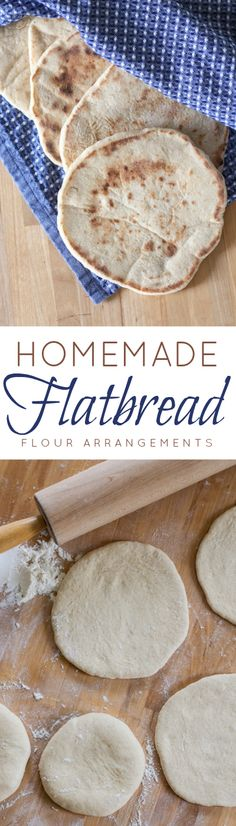 Soft and chewy homemade flatbread is simple to make and super versatile. Use it for sandwiches, serve it with dinner, or dip it in hummus!