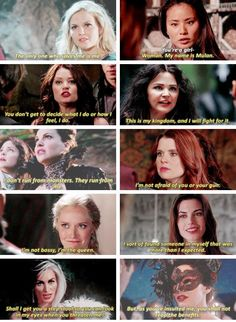 Girl Power ♀ I love all the strong, independent women in this show, but Elsa face is killing me! Best Tv Shows, Best Shows Ever, Favorite Tv Shows, Movies And Tv Shows, Once Upon A Time Funny, Once Up A Time, Ouat Cast, Glee Cast, Film Serie