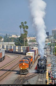 RailPictures.Net Photo: ATSF 3751 Atchison, Topeka & Santa Fe (ATSF) Steam 4-8-4 at San Bernardino, California by Craig Walker
