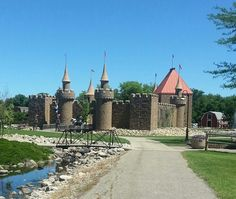 Storybook castle from train