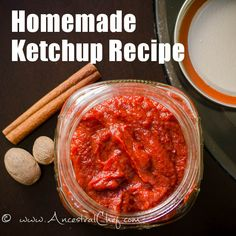 Get this Homemade Paleo Ketchup Recipe - it's easy, delicious, and healthy! Enjoy with all your favorite foods. Photos and printable instructions available.