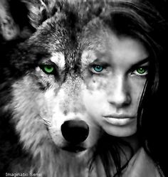 Wolf and girl warrior princess