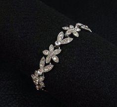 ORA Rhinestone Bracelet by katscache. Explore more products on http://katscache.etsy.com