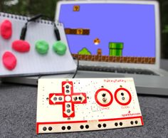 MaKey MaKey: an invention kit from the MIT Media Lab that allows you to create computer controllers from everyday items. You can make anything into a computer key by connecting alligator clips. This allows you to hook up all kinds of fun things as an input. For example, play Mario with a Play-Doh keyboard, or a piano with bananas. Kids can turn everyday objects into touchpads and start inventing right away with materials such ketchup, pencils, finger paint,or lemons. £39.99 from Firebox.com.