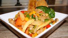 SONY DSC Wok, Thai Red Curry, Spicy, Chicken, Meat, Ethnic Recipes, Cubs