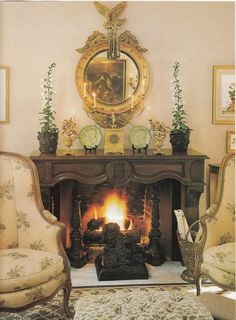 Love the mantle accessories, by Charles Faudree