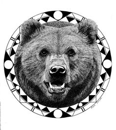 Grizzly Drawing by Rick Resta