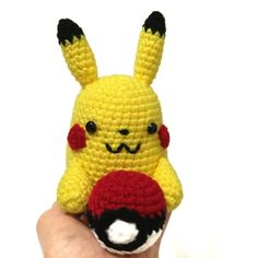 Crochet Pikachu Inspired Music Box Amigurumi by AmiAmiGocco