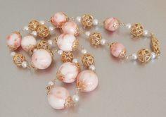 RARE Vintage Natural Angel Skin Coral Necklace by StarliteVintageGems ~ #Vintage #Jewelry #VintageJewelry #AngelSkinCoral #Coral #Fashion #Style #Handmade #Etsy #Pantone #Pink