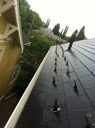 Calgary Roof Repair originally shared:   Calgary Roof Repair. #RoofRepair #Calgary. This client required snow retainers installed due to falling snow and ice hitting the neighbour's house. The two houses are very close together which is resulting in this issue. Initial Inspection Report: First the crew measured the right side of the…Calgary Roof Repair - Google+