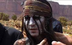 johnny depp lone ranger | PHOTOS Johnny Depp déguisé en Indien pour The Lone Ranger - Voici