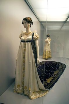 Empire style court dress, 1800s France