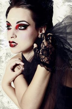 red and black make up