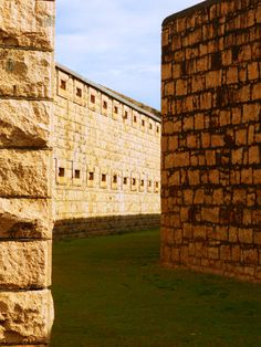 Arakoon NSW: inner walls of 1886 Trial Bay Gaol Port Macquarie, Australia Travel, Historical Sites, Old Town, Day Trips, Buildings, Scenery, Walls, Outdoor Structures