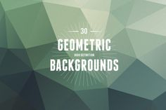 Check out 30 Geometric Backgrounds by Theme Trunk on Creative Market
