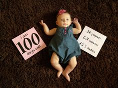 My baby girl is 100 days old Monthly Baby Photos, Newborn Baby Photos, Baby Boy Pictures, Baby Images, Newborn Baby Photography, Children Photography, My Baby Girl, Baby Love, Baby Shots