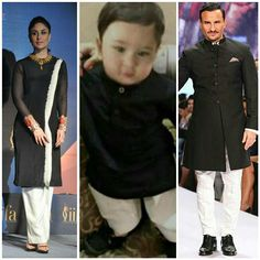 Mom And Son Outfits, Matching Family Outfits, Baby Boy Outfits, Indian Clothes, Indian Outfits, Taimur Ali Khan Pataudi, Kids Indian Wear, Bollywood Couples, Indian Star