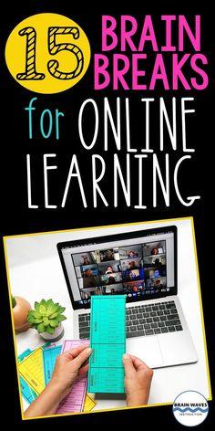 Middle School Activities, Fun Classroom Activities, Classroom Ideas, Fun Learning, Learning Activities, Physical Activities, Brain Breaks Middle School, Fun Brain, Virtual Games