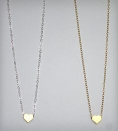 hand crafted mini heart necklace