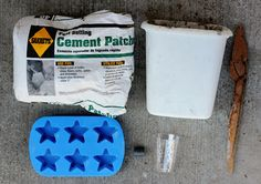 Supplies for concrete magnets (made in a silicone mold)
