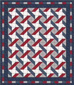 PDF Download NEW Stars and Stripes Quilt Pattern by QuiltLakeside