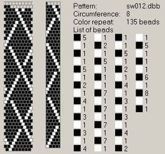 With these somewhat simpler designs I could make beads or sections on a necklace with them. Bead Crochet Patterns, Bead Crochet Rope, Loom Patterns, Beading Patterns, Crochet Designs, Beaded Crochet, Crochet Beaded Bracelets, Beaded Bracelet Patterns, Seed Bead Jewelry