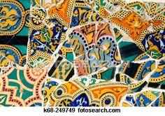 Gaudi tile! Gaudi Mosaic, Mosaic Tile Art, Mosaic Designs, Mosaic Ideas, Spain Images, Spanish Tile, Antoni Gaudi, Magnum Opus, Top 5