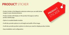 Product sticker Mangento2 extension . Product sticker is the magento extension where you can add sticker images to your desired products.Product sticker will display on the product list page as well as product detail page