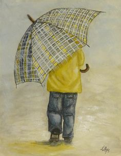 PRINTS! This little guy would look amazing in a Bedroom or Hallway! Your Size & Style! 'Oversized Umbrella' - http://fineartamerica.com/featured/oversized-umbrella-kelly-mills.html