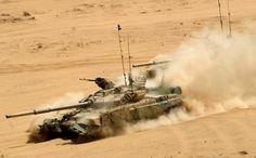 Indian T-90 Bhishma during Operation Sudarshan Shakti, 2011