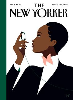 'BUTTERFLY EFFECT' 2018 cover illustration The New Yorker magazine Set. 12 & 19 issue by Malika Favre of elegantly dressed woman with monocle in a tribute to Eustace Tilley the monocled 1925 creation of Rea Irvin for The New Yorker The New Yorker, New Yorker Mode, New Yorker Covers, Capas New Yorker, Pop Art, Bohemian Mode, Butterfly Effect, Animation, Grafik Design