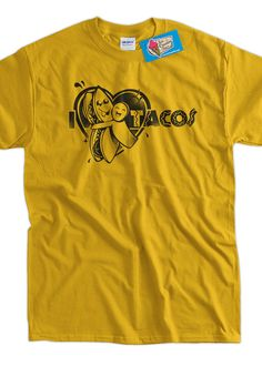 I heart love Tacos TShirt Tee Shirt T Shirt Mens by IceCreamTees, $14.99