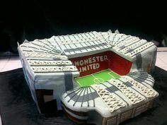 Manchester United stadium groom's cake!
