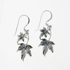 Sterling-silver-Fairy-Trail-Ivy-Leaf-vine-drop-Earrings-solid-925-jewellery