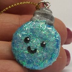 Polymer Clay Blue Bauble Charm